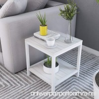 "Soges Modern End Table 15.7"" Square Coffee Table Sofa Side Table Telephone Table  White Maple TVST-ZS-MP-40 - B07B7JSQZL"