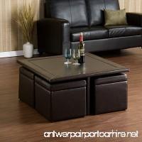 Southern Enterprises Nylo Storage Cube Table and Ottoman Set  Dark Chocolate Finish - B003UT3F1E