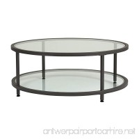 Studio Designs Home 71003.0 Camber Round Coffee Table In Pewter With Clear Glass - B01DGMLMZA