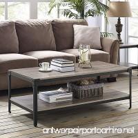 Walker Edison Furniture 48 Angle Iron Rustic Wood Coffee Table - Driftwood - B01MSLNEUY