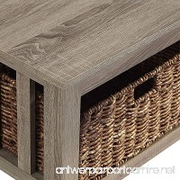 """WE Furniture 40"""" Wood Storage Coffee Table with Totes - Driftwood - B01MQILE36"""