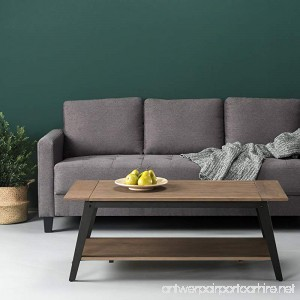 Zinus Wood and Metal Coffee Table - B078YGN964