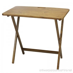 American Trails Arizona Folding Table with Solid Red Oak - B01MRULQLP