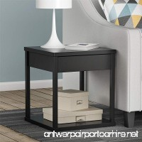 Ameriwood Home Parsons End Table with Drawer  Black - B007VMEDF8