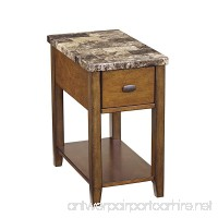 Ashley Furniture Signature Design - Breegin Contemporary Chair Side End Table - Rectangular - Brown - B0068CZT78