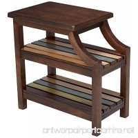 Ashley Furniture Signature Design - Mestler Casual Chair Side End Table - 2 Slotted Multi-Color Shelves - Rustic Brown - B00B11PD1S