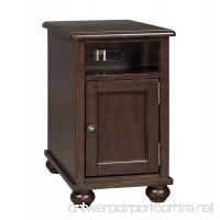 Barilanni Chair Side End Table Dark Brown/Casual - B071HW99BB
