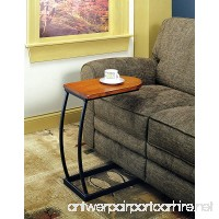 Coaster Transitional Brown Accent Table with Black Metal Base - B00155SS26