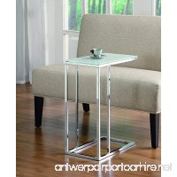 Coaster Transitional Chrome Snack Table with Frosted Tempered Glass Top - B005HSGQM6