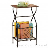 Collections Etc Side Table with Magazine Holder - B01FGZEYVO
