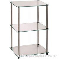Convenience Concepts Designs2Go Go-Accsense 3-Tier Glass Square End/Lamp Table Clear Glass - B000W9SGNM
