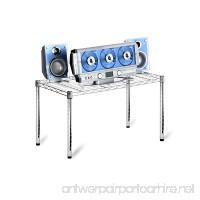 Honey-Can-Do SHF-01505 Stackable Metal Urban Shelving Side Table  Chrome 14 x 30 - B002M3SPEQ