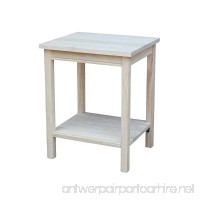 International Concepts OT041 Accent Table  Unfinished - B0029LHTE8