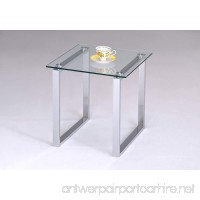 Kings Brand Chrome Finish With Glass Top End Table - B005BF1QWK