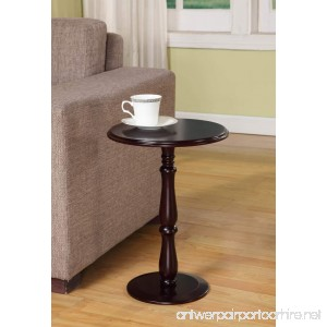 Kings Brand Furniture - Dark Cherry Finish Wood Plant Stand Accent Side End Table - B0061OQTO0