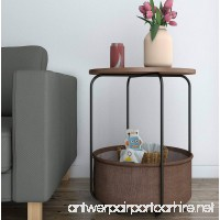 Lifewit Round Large Side Table End Table Nightstand with Storage Basket Modern Collection Espresso - B076FYQ3FH