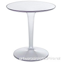 Modway Canvas Side Table in Clear - B00BNZ6EMO