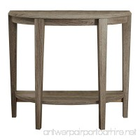 Monarch Specialties Dark Taupe Reclaimed-Look Console Accent Table 36-Inch - B00QT5MGFM