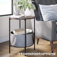 Nathan James 32201 Oraa Round Wood Storage Side Table Nutmeg - B07FJCMY39