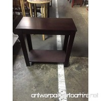 Side Table Black / White / Espresso / Walnut (Espresso) - B076VXZFZ3