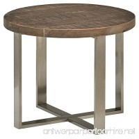 """Stone & Beam Culver Reclaimed Wood Side Table  23.6"""" D  Natural and Steel - B075Z8FV7N"""