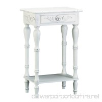 VERDUGO GIFT Sunshine Megastore Carved White Side Table - B000EWZ1Q2