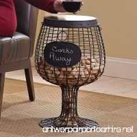 Wine Enthusiast Wine Glass Cork Catcher Accent Table - Holds 500 Corks - B01DUFHZH2