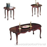 ACME 02402 Essex Coffee/End Table Set  3-Piece  Cherry Finish - B000A3CDXY