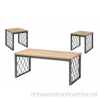 ACME Catalina Coffee/End Table Set (3 Pack) Light Oak and Gray - B012W7VDB8