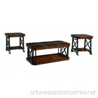 Ashley Furniture Signature Design - Vinasville Occasional Table Set - 1 Coffee Table and 2 End Tables - Set of 3 - Medium Brown - B00ROAR96W