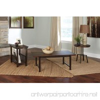 Ashley Riggerton 3 Piece Coffee Table Set in Burnished Brown - B00ROAJHEY