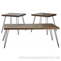 Belmont Home Reclaimed Wood and Metal Tables (Set of 3) - B01CCRQEFI