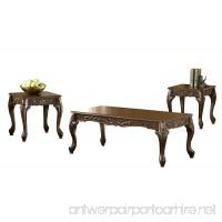 Bernards Carved Coffee Table Set  Cherry  3-Pack - B002ICP0F8