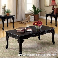 Cheshire Traditional 3 Piece TABLE SET  Black Finish - B0746G416J