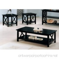 Coaster Briarcliff Casual Dark Merlot Three-Piece Occasional Table Set - B001IMJJG0