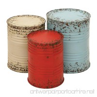 Deco 79 Metal Drum Table Accent Collection 20 by 18 by 16-Inch Multi-Color Set of 3 - B007YS5H90