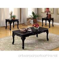 Furniture of America 3 Piece Chesapeake Table Set Black - B014URA3FK