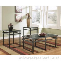Lane 3pc Black Metal and Glass Coffee End Table Set - B00I3ISDK0