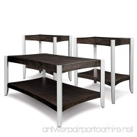 Leick Aluminum Condo/Apartment Coffee Table & Two End Tables (3 Pack) Smoky Onyx & Faux - B01CKM4QSW