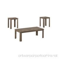 Monarch Specialties I 7912P Dark Taupe Table 3 Piece Set - B00QUE7BCU