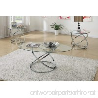 Poundex F3087 Occasional Table Set with Spinning Circles Base Design - B00XR5OKPQ