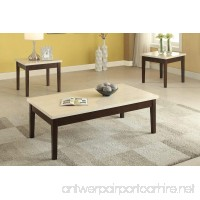 Poundex PDEX-F3126 3 Piece Coffee/Cocktail/End Table Set with Faux Marble Top - B0167T9GIO