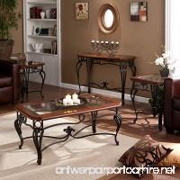 Southern Enterprises Prentice Living Room Table Set of 4  Black with Dark Cherry Finish - B008QSJ4PU