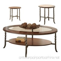 "Steve Silver Company Vance Occasional Table (3 Pack)  48"" W x 26"" D x 18"" H/22 W x 22"" D x 22"" H - B013TFOJ0E"