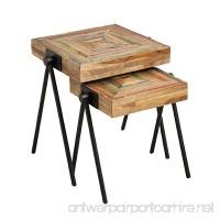 Cape Craftsmen Square Teak Nested Side Tables Set of 2 - B06XYFBXVG