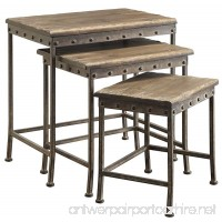 Coaster Furniture 901373 Antique Brown Nesting Table (Set of 3) - B01GE7VYJS