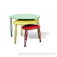 Foreside Oblong Painted Nesting Tables  Set of 3 - B0088XRFKE