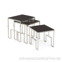 Halt Decor Cortona Glass & Polished Nickel Nesting Tables Set  3 Count | 20513 - B073WJT7JW