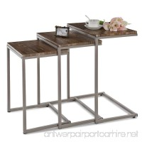 IKAYAA Modern Metal Frame Coffee and Cocktail Table (Type 2) - B01IVLJL5E