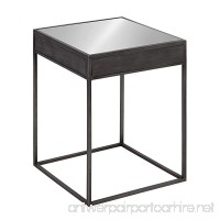 Kate and Laurel Aleksand Industrial Modern Square Mirror and Metal Accent Side End Table Metallic Gray 16-inches wide x 16-inches deep x 22-inches tall - B0742NL22R